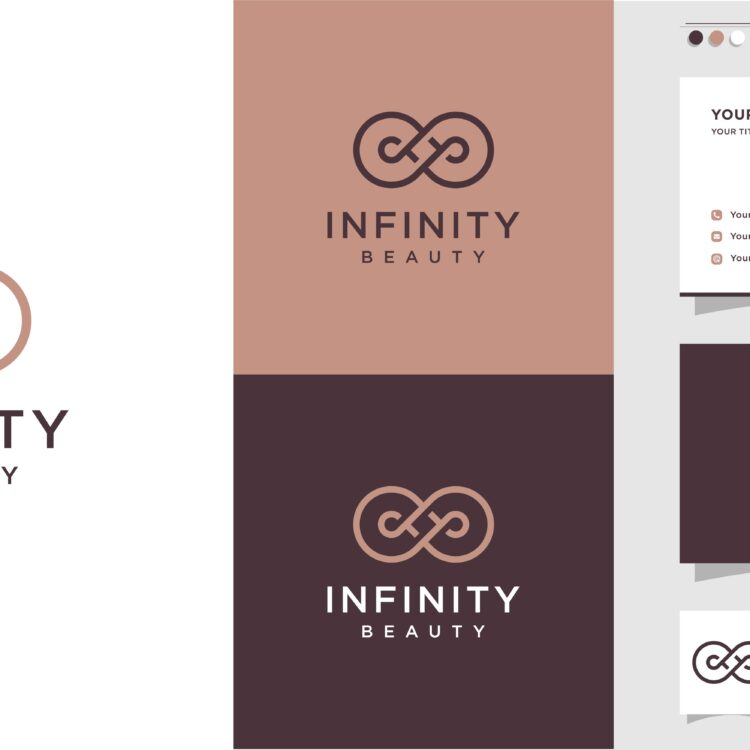 Infinity beauty Logo and business card design, beauty, infinity, concept, life, Premium Vector